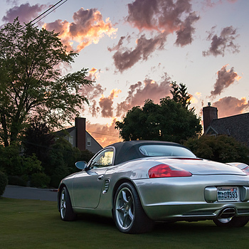 Silver Porsche at Sunset | ZEISS ZA DISTAGON 24MM F2.0 <br> Click image for more details, Click <b>X</b> on top right of image to close