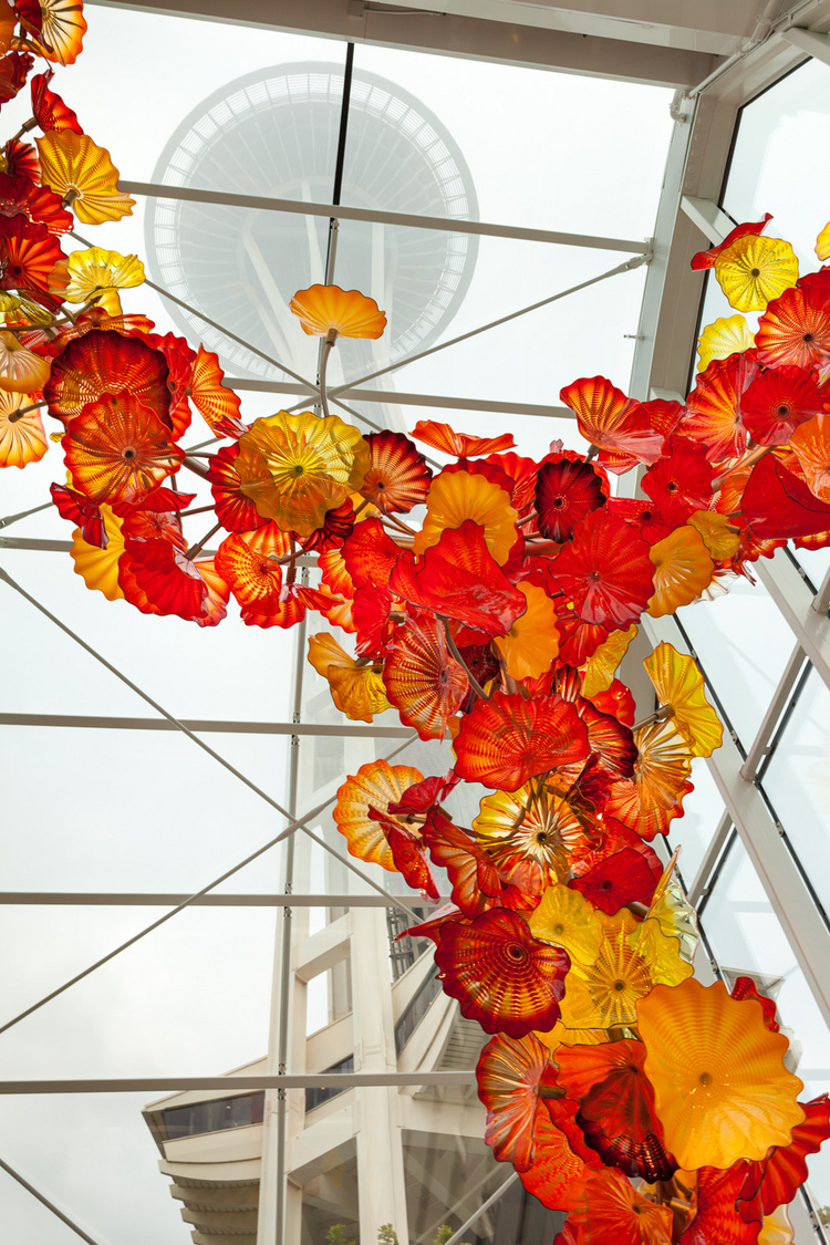 Chihuly Gardens with Seattle Center | ZEISS DISTAGON F2.0 35MM <br> Click image for more details, Click <b>X</b> on top right of image to close