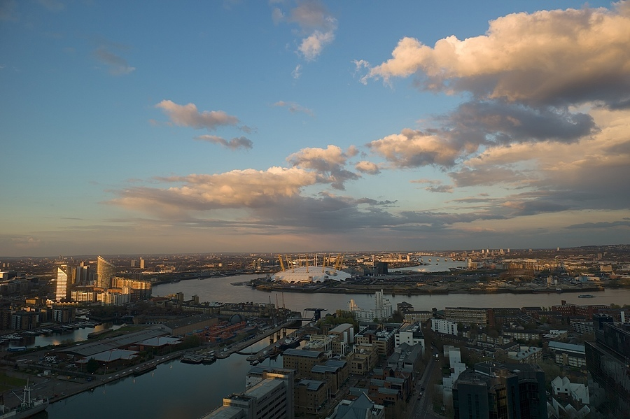 Millenium Dome O2 Sunset | ZEISS ZM BIOGON F2.8 21MM <br> Click image for more details, Click <b>X</b> on top right of image to close