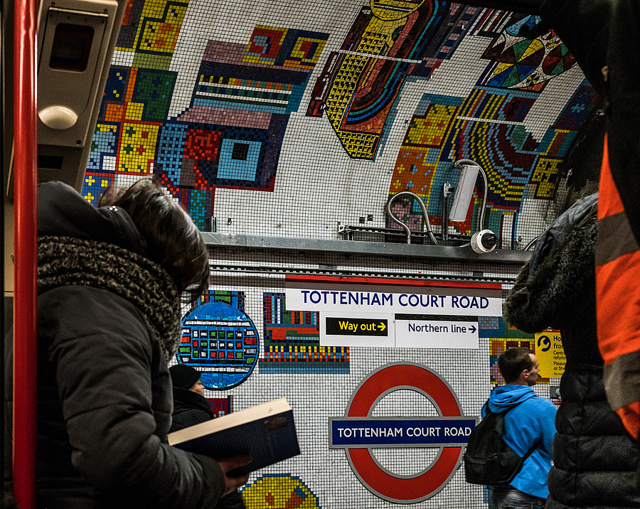 Tottenham Court Road Station | ZEISS ZEISS SONNAR 35MM F2 <br> Click image for more details, Click <b>X</b> on top right of image to close
