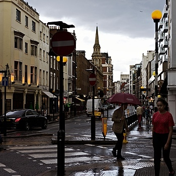 Marylebone High Street after rain | ZEISS SONNAR 55MM F1.8 FE ZA <br> Click image for more details, Click <b>X</b> on top right of image to close