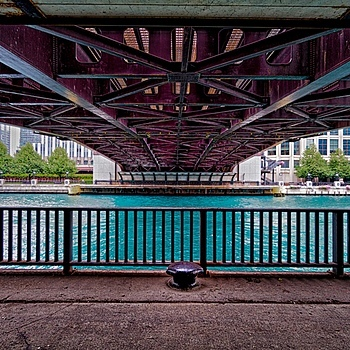 Chicago Riverwalk Columbus Bridge #2