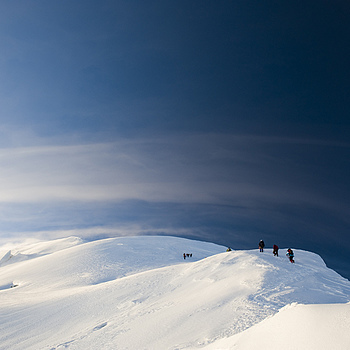 Climbers on Mont Blanc(4810m) | ZEISS DISTAGON F2.8 25MM