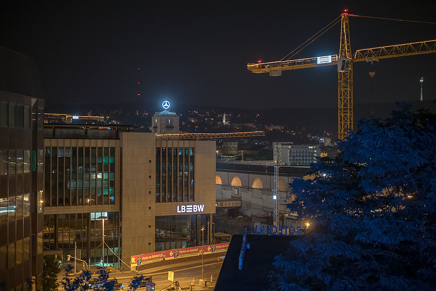 Stuttgart at Night | CARL ZEISS APO-DISTAGON 1.4/55 ZF.2 <br> Click image for more details, Click <b>X</b> on top right of image to close