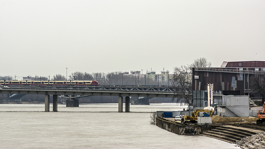 """Two bridges over Vistula"" View #1 