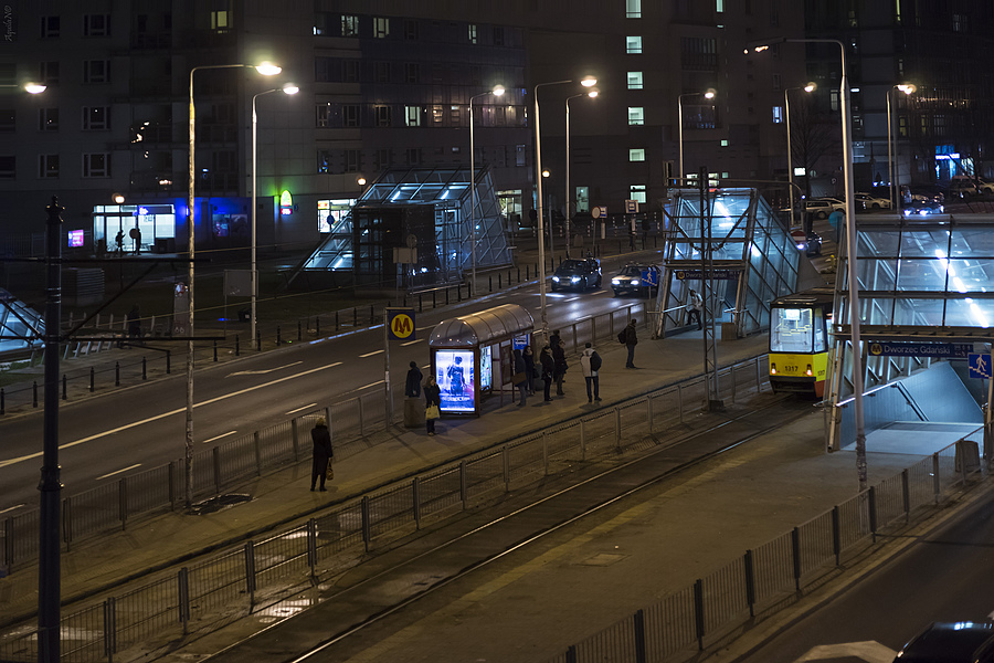 Passing near Danzig Railroad Station at Warsaw | ZEISS JENA PRAKTICAR 80MM F1.8 <br> Click image for more details, Click <b>X</b> on top right of image to close
