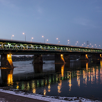 Wider perspective portrait of Danzig Bridge | ZEISS JENA FLEKTOGON F2.8 20MM