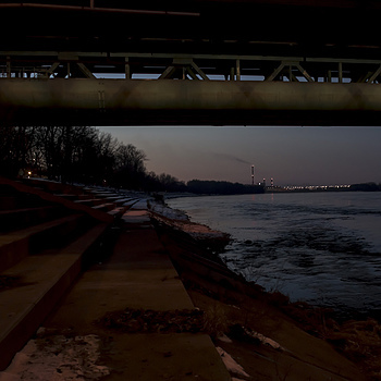 North panorama from under a Danzig Bridge | ZEISS JENA FLEKTOGON F2.8 20MM