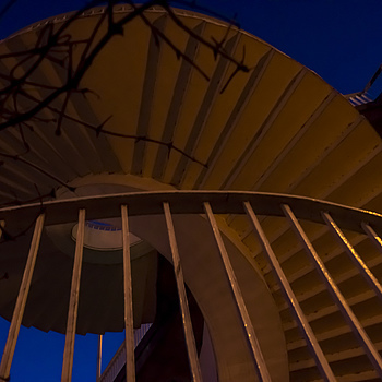Helical Stairs from inside (view to the top) | ZEISS JENA FLEKTOGON F2.8 20MM