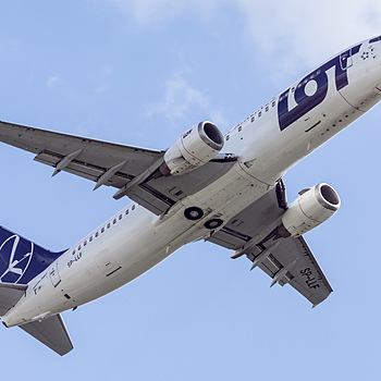 Fly-by of Boeing 737 (Polish Airlines) | ZEISS CFI SONNAR F4 180MM <br> Click image for more details, Click <b>X</b> on top right of image to close