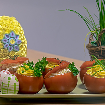 Tomatoes with Anchios by Edythe (A1) | ZEISS CFI SONNAR F4 180MM <br> Click image for more details, Click <b>X</b> on top right of image to close