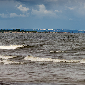 Long range sight from beach of Jantar | ZEISS F TELE-TESSAR4/350 <br> Click image for more details, Click <b>X</b> on top right of image to close
