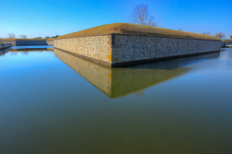 Moat - Fort Monroe, Virginia II | ZEISS ZA VARIO-SONNAR DT F3.5-F4.5 16-80MM <br> Click image for more details, Click <b>X</b> on top right of image to close