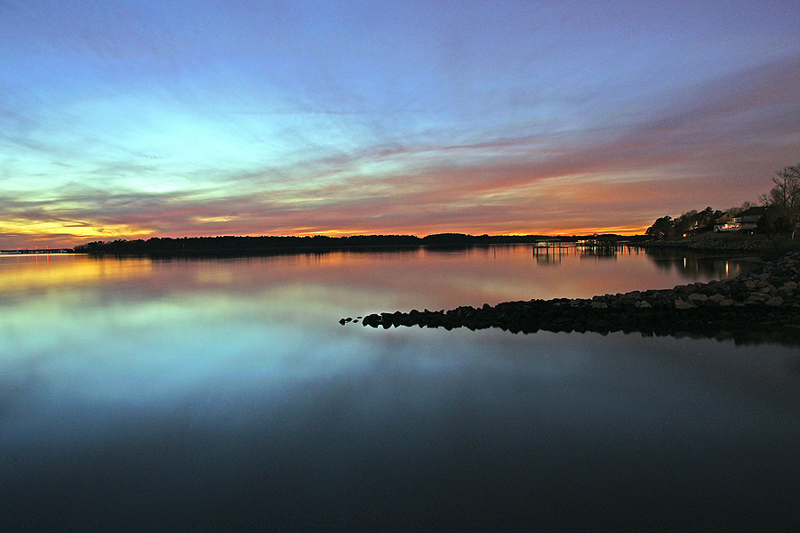 Warwick River Sunset | ZEISS ZA VARIO-SONNAR DT F3.5-F4.5 16-80MM <br> Click image for more details, Click <b>X</b> on top right of image to close