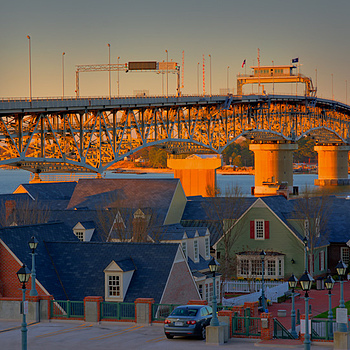 Yorktown Golden Bridge | ZEISS ZA VARIO-SONNAR DT F3.5-F4.5 16-80MM <br> Click image for more details, Click <b>X</b> on top right of image to close