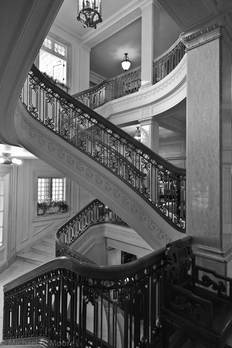 Staircase, Pittock Mansion | ZEISS DISTAGON F2.8 21MM <br> Click image for more details, Click <b>X</b> on top right of image to close