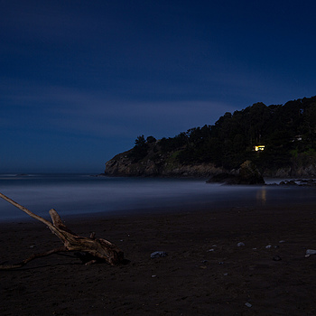 Muir beach by moonlight | ZEISS DISTAGON F2.8 21MM <br> Click image for more details, Click <b>X</b> on top right of image to close