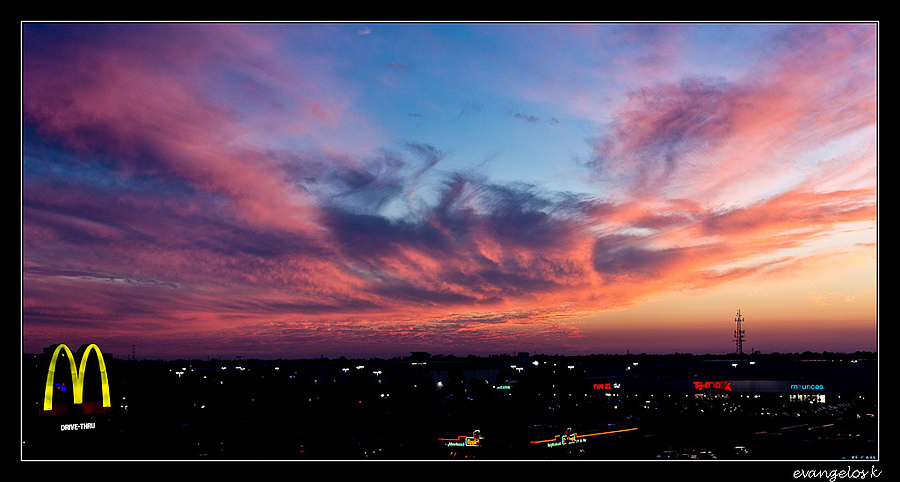 Parking Garage Roof Sunset 2 | ZEISS ZA VARIO-SONNAR F2.8 24–70MM <br> Click image for more details, Click <b>X</b> on top right of image to close