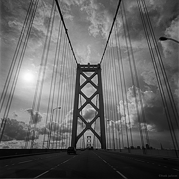 Bay Bridge into San Francisco | ZEISS 85MM F1.8 SONNAR <br> Click image for more details, Click <b>X</b> on top right of image to close