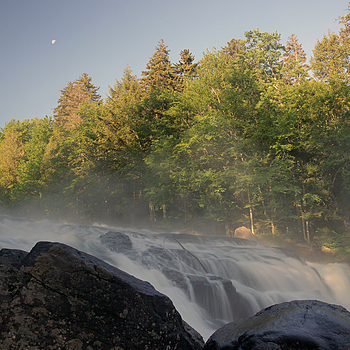 Moon over Buttermilk Falls | ZEISS ZA VARIO-SONNAR F2.8 24–70MM <br> Click image for more details, Click <b>X</b> on top right of image to close