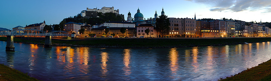 9 shot panorama of Salzburg | ZEISS PLANAR F1.4 50MM <br> Click image for more details, Click <b>X</b> on top right of image to close