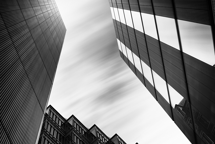 "Looking up at ""More London"" 