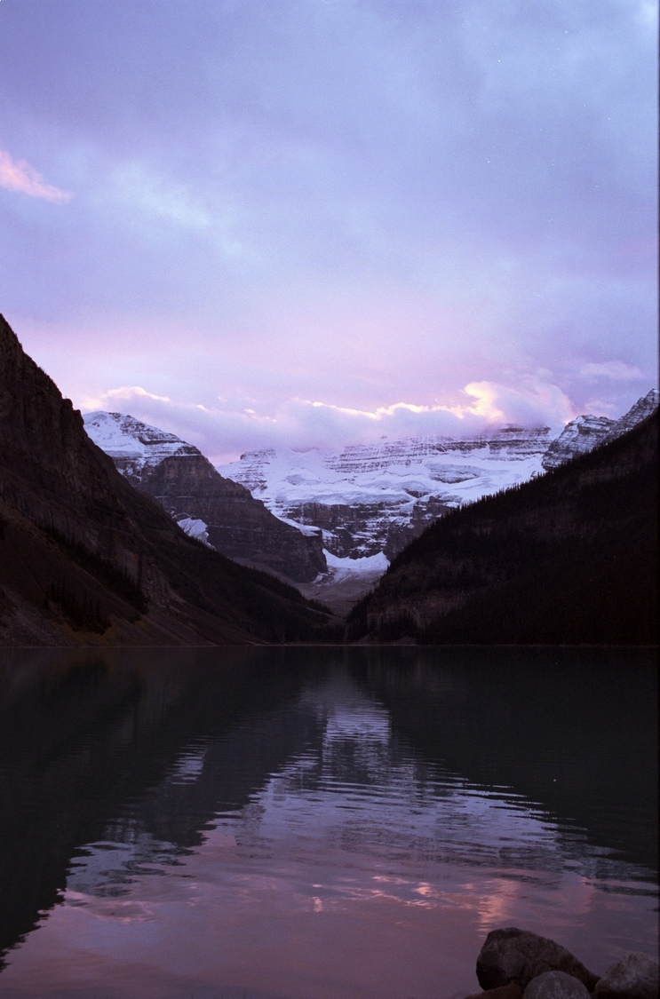 Lake Louise at Sunset | ZEISS ZM BIOGON F2.0 35MM <br> Click image for more details, Click <b>X</b> on top right of image to close
