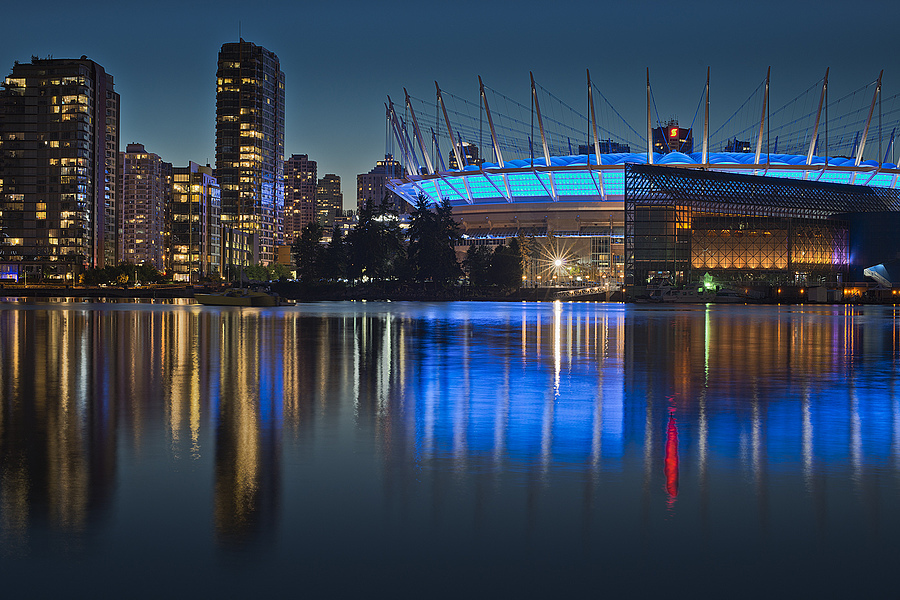 BC Place Nightfall | ZEISS PLANAR F1.4 50MM <br> Click image for more details, Click <b>X</b> on top right of image to close