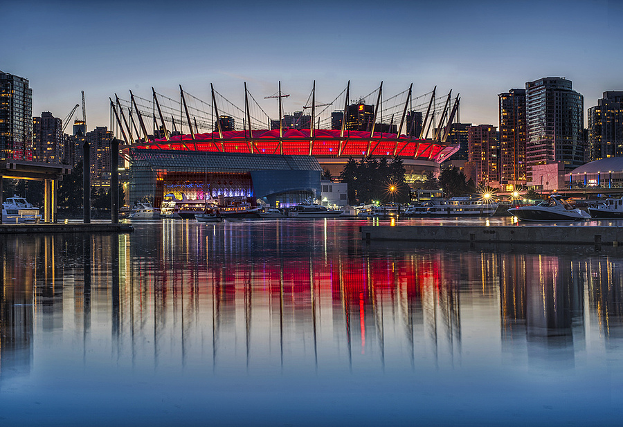 BC Place Twilight | ZEISS PLANAR F1.4 50MM <br> Click image for more details, Click <b>X</b> on top right of image to close