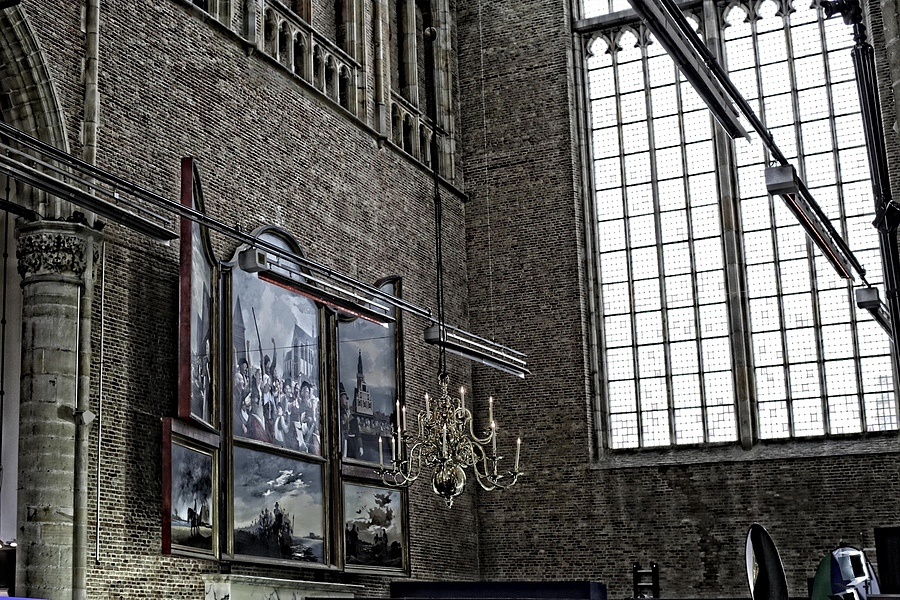 Painting in church in Alkmaar | ZEISS PLANAR F1.4 50MM <br> Click image for more details, Click <b>X</b> on top right of image to close