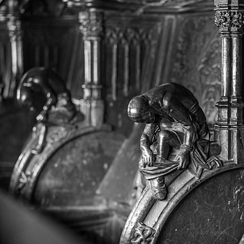 Peregrino (sillería catedral Toledo) | ZEISS SONNAR 55MM F1.8 FE ZA <br> Click image for more details, Click <b>X</b> on top right of image to close