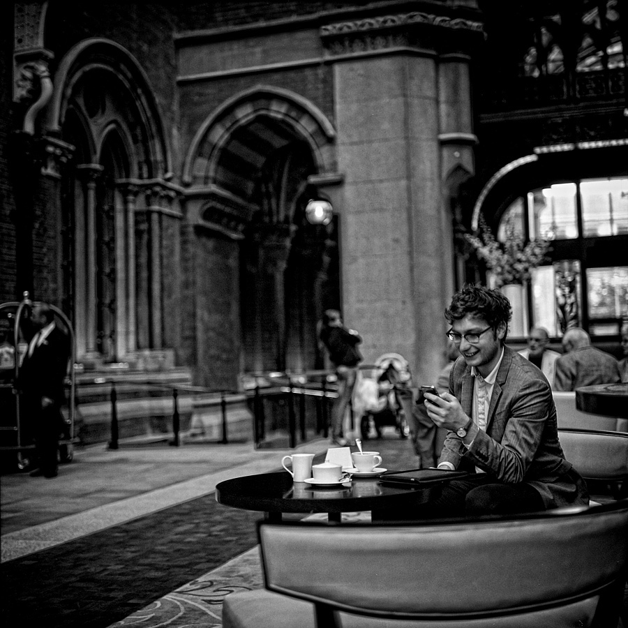 Tea for one, St Pancreas London | LENS MODEL NOT SET <br> Click image for more details, Click <b>X</b> on top right of image to close