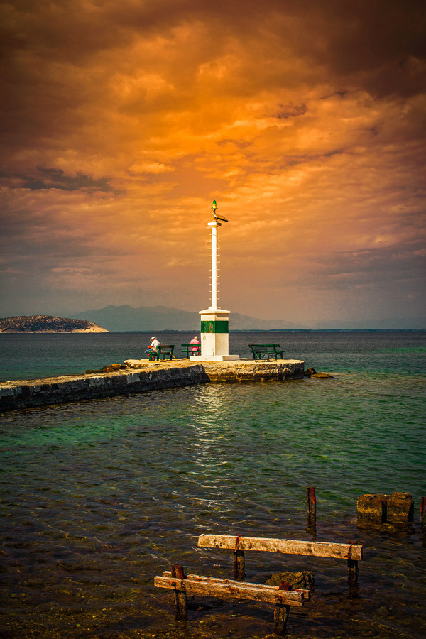 The Thassos harbour light tower | ZEISS PLANAR F1.4 50MM <br> Click image for more details, Click <b>X</b> on top right of image to close