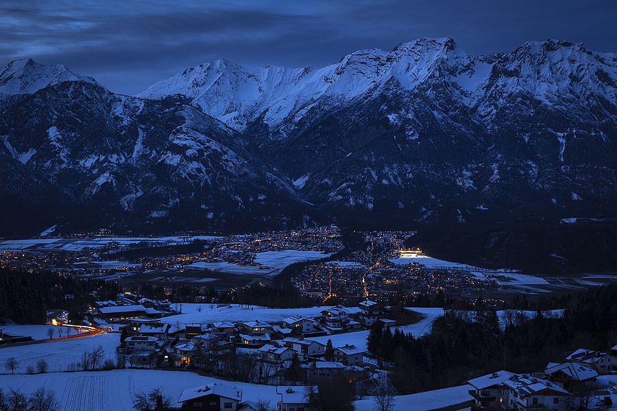 Night over the village in Alpes | ZEISS PLANAR F1.4 50MM <br> Click image for more details, Click <b>X</b> on top right of image to close