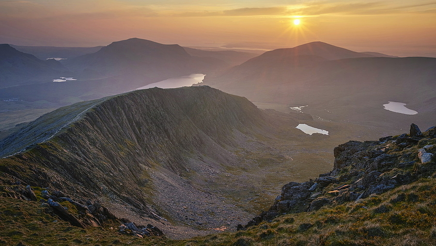 Lakes and Ridges at Sunset | LENS MODEL NOT SET <br> Click image for more details, Click <b>X</b> on top right of image to close