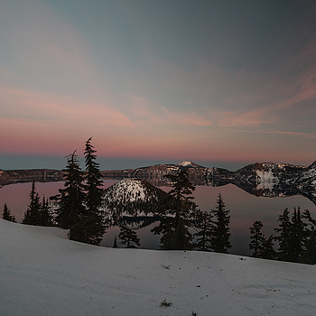 Crater Lake  dressed for Xtmas | ZEISS DISTAGON F2.8 15MM <br> Click image for more details, Click <b>X</b> on top right of image to close
