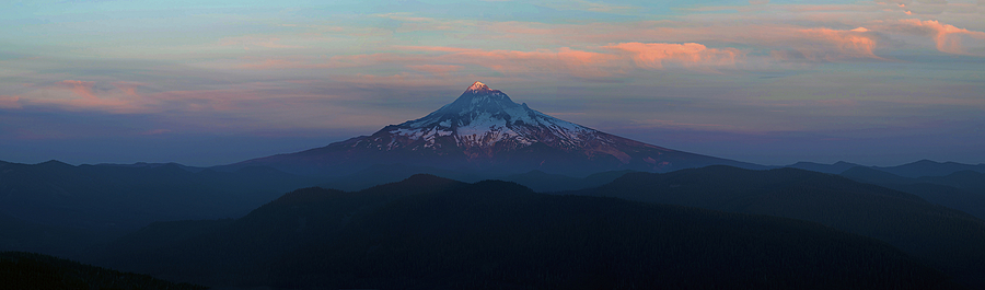 Mt. Hood pano | ZEISS APO SONNAR F2 135MM <br> Click image for more details, Click <b>X</b> on top right of image to close