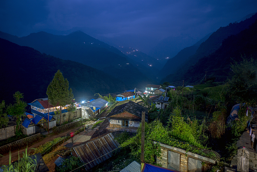 Blue hour Nepal | ZEISS G BIOGON 21MM F2.8 <br> Click image for more details, Click <b>X</b> on top right of image to close