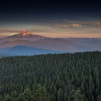 Mt Hood with forest fire smoke sunset | ZEISS DISTAGON F1.4 35MM