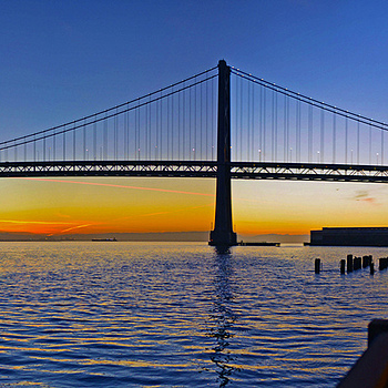 Oakland Bay Bridge panorama | ZEISS DISTAGON F1.4 35MM <br> Click image for more details, Click <b>X</b> on top right of image to close