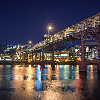 Marquam Bridge | LENS MODEL NOT SET <br> Click image for more details, Click <b>X</b> on top right of image to close