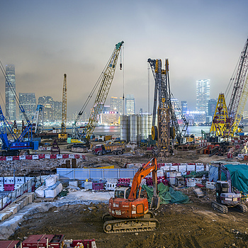 Cranes HK Central | ZEISS G BIOGON 21MM F2.8 <br> Click image for more details, Click <b>X</b> on top right of image to close