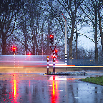 Rainy intersection