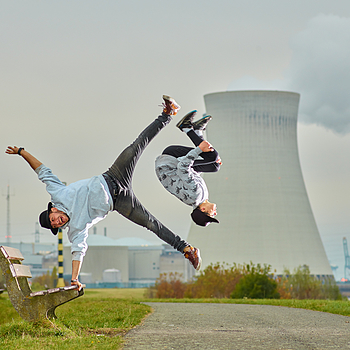 Doel nuclear power plant with Onur and Ravi