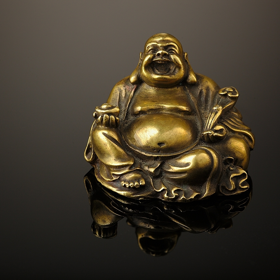 Bronze Laughing Buddha Statue | ZEISS APO SONNAR F2 135MM <br> Click image for more details, Click <b>X</b> on top right of image to close