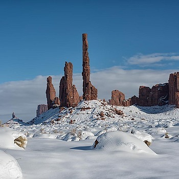 Monument Valley, AZ under 27 inches of snow
