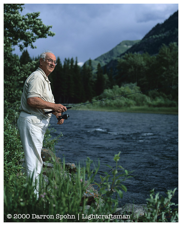 Dad Fishing, Montana | ZEISS CFE PLANAR 80MM F2.8 <br> Click image for more details, Click <b>X</b> on top right of image to close