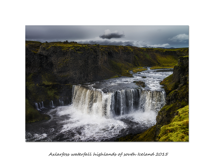 Axlarfoss waterfall highlands of south Iceland 2015 | ZEISS ZEISS SONNAR 35MM F2 <br> Click image for more details, Click <b>X</b> on top right of image to close