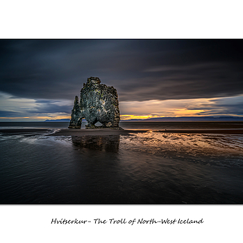 Hvítserkur- The Troll of North-West Iceland | LENS MODEL NOT SET <br> Click image for more details, Click <b>X</b> on top right of image to close
