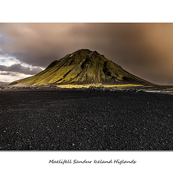 Maelifell Sandur Iceland Higlands | LENS MODEL NOT SET <br> Click image for more details, Click <b>X</b> on top right of image to close